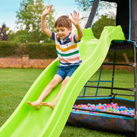 TP Explorer Metal Climbing Frame Set and CrazyWavy Slide Black Edition