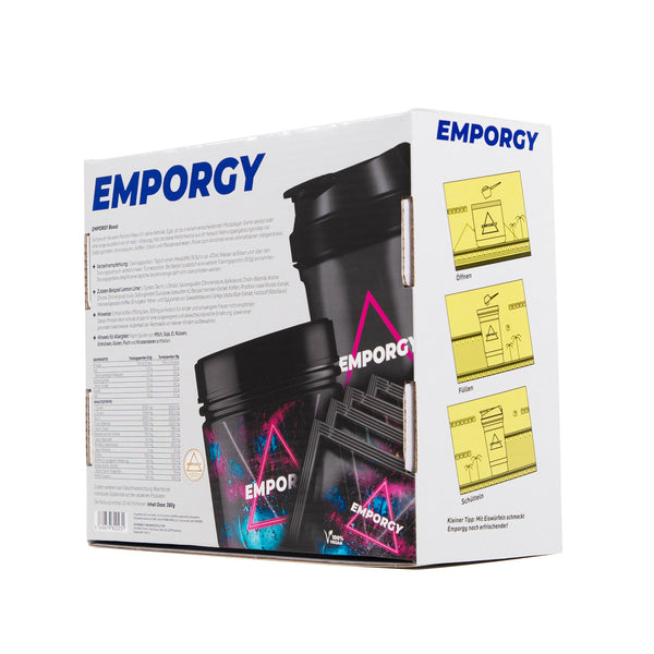 EMPORGY STARTER BOX BLACK (BOOSTER + SHAKER + 4 PROBEN)