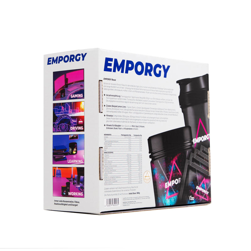 EMPORGY STARTER BOX BLUE (BOOSTER + SHAKER + 4 PROBEN)