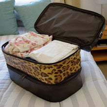 Load image into Gallery viewer, Strata Bags Overnight/ Weekender Bag With Leopard Print - Travel Gear Girl - {{ travel.accessories }} - {{ travel.accessories.women }} - {{ travel.gear }} - {{ travel.women }}