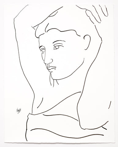 "Original Line Drawing ""I Wait for You"" 20"" x 16.5""   Ltd Ed. by Marilyn Wells"