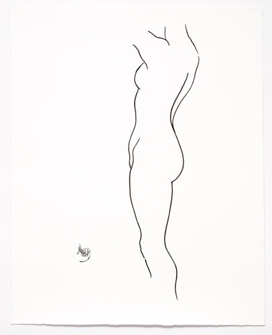 "Original Line Drawing ""So Beautiful We Are"" 20"" x 16.5"" Ltd Ed by Marilyn Wells"