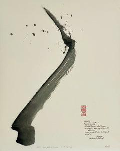 "Original abstract sumi e ""Love God's Arrows"" by Marilyn Wells"