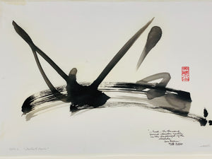 "Original abstract sumi e ""Infinite Desire"" by Marilyn Wells"