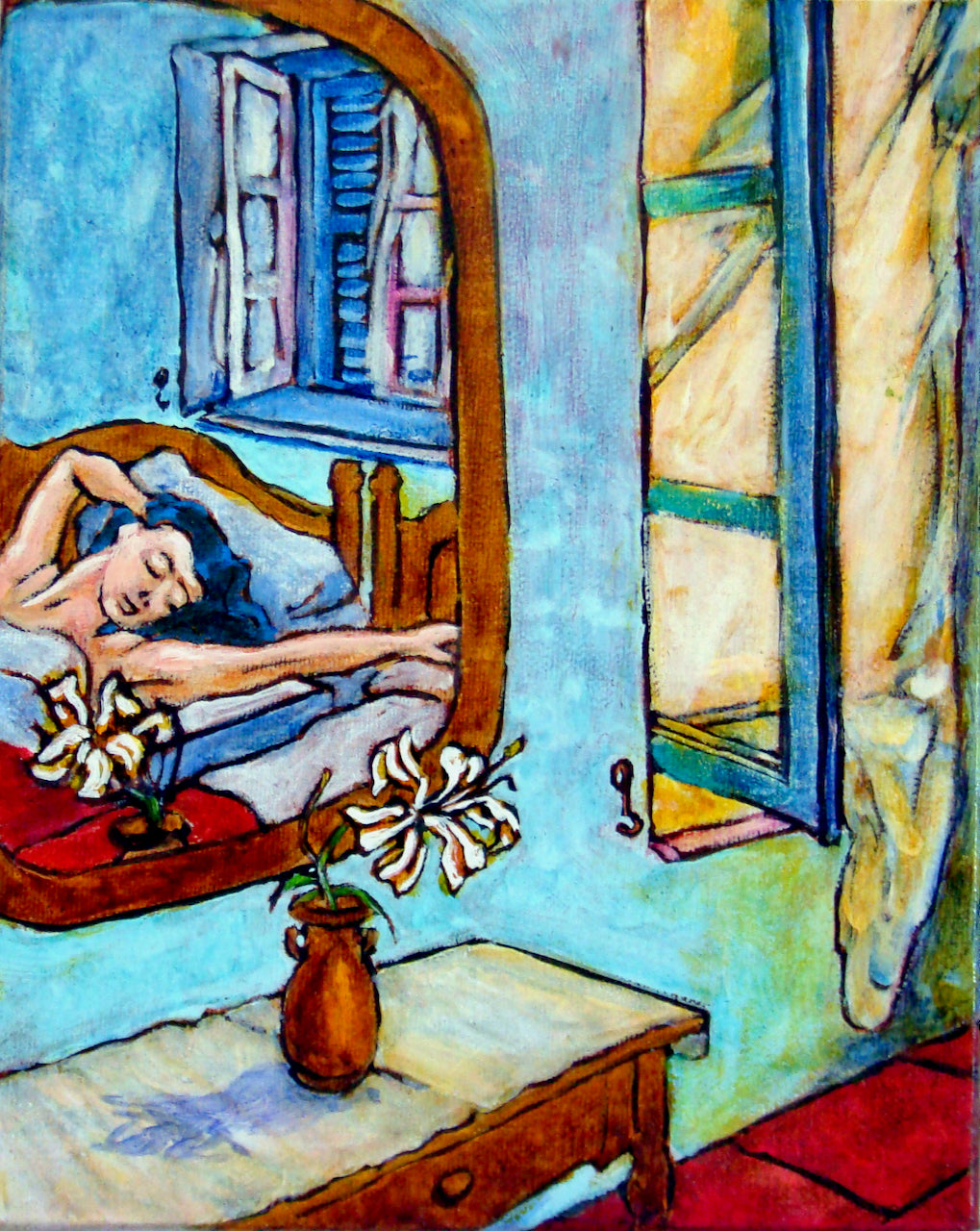 "Original Oil Painting ""Girl Sleeping"" 8"" x 10""  by Marilyn Wells"