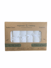 Load image into Gallery viewer, Bamboo / Cotton Washcloths ~ 6 Pack ~ Ultra Soft / Super Absorbent