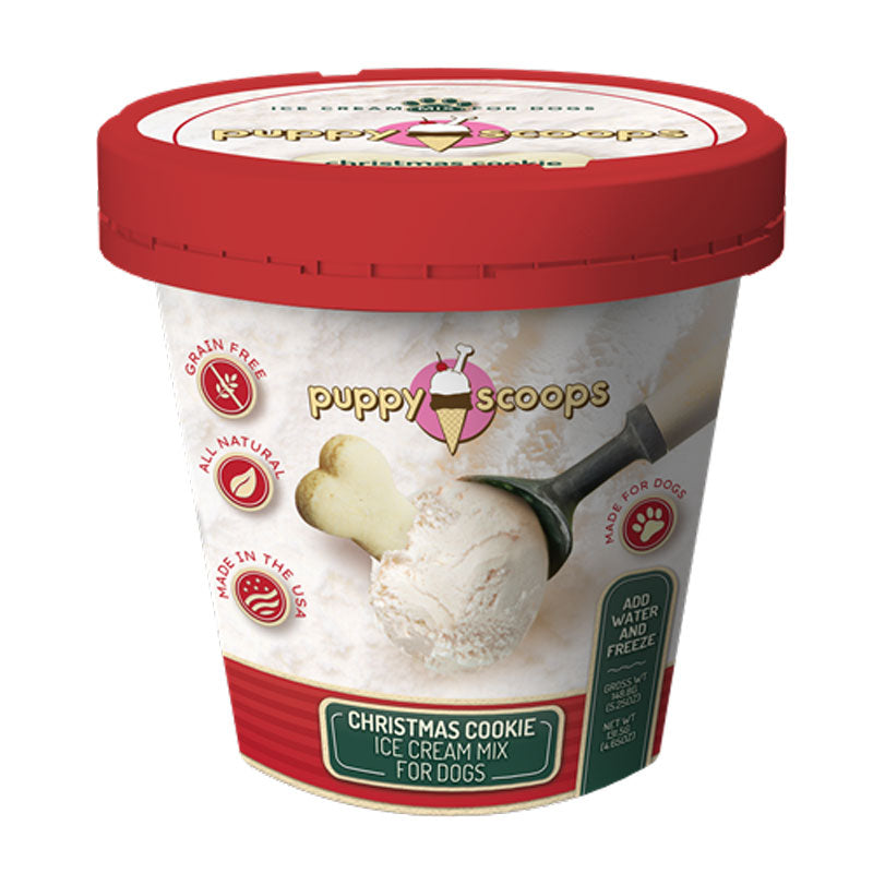 Puppy Scoops Ice Cream Mix - Christmas Cookie 4.65 oz