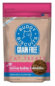 Buddy Biscuits Grain Free for Cats Savory Turkey & Cheddar