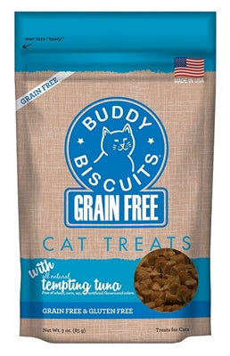 Buddy Biscuits Grain Free for Cats Savory Tempting Tuna