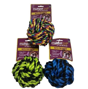 Multipet Nuts for Knots Ball Assorted Colors (3.5in)