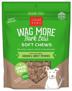 Wag More Bark Less Soft & Chewy Chicken&Sweet Potatoe Treats 5 oz