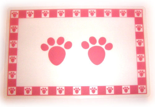 "Pink Pet Paws Placemat - 11.75"" x 19""W"