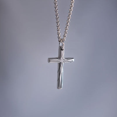 Chain with cross - Angels - Purman Sustainable Jewelry