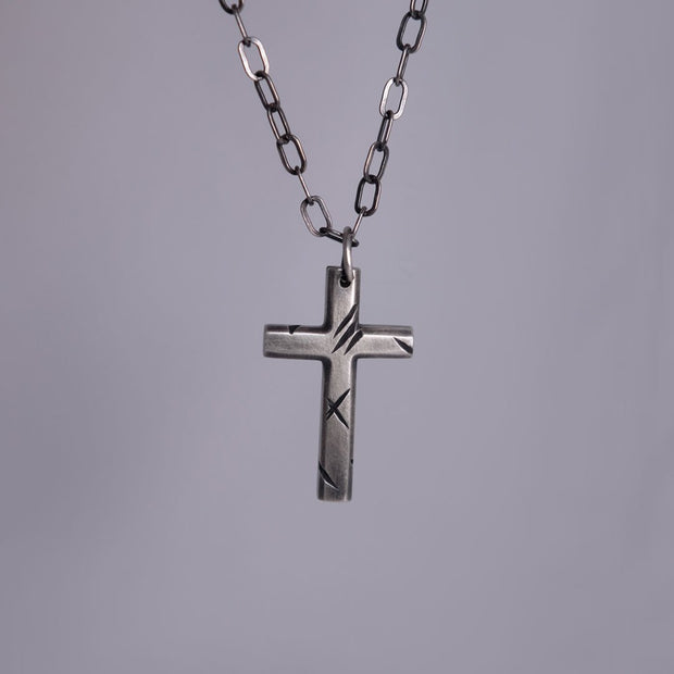 Chain with cross - Demons - Purman Sustainable Jewelry
