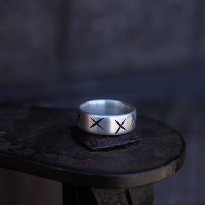 "Ring - ""Crosses"" - Purman Sustainable Jewelry"