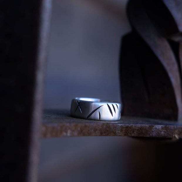 "Ring - ""Scratches"" - Purman Sustainable Jewelry"