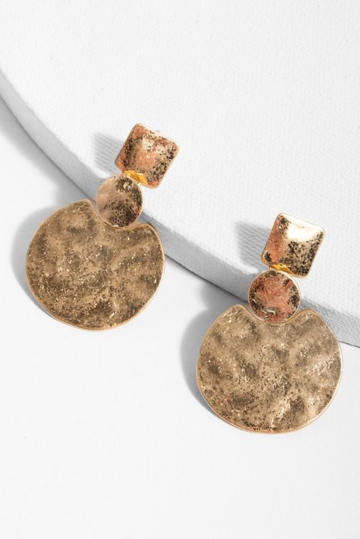 Gold Obsession Statement Earring