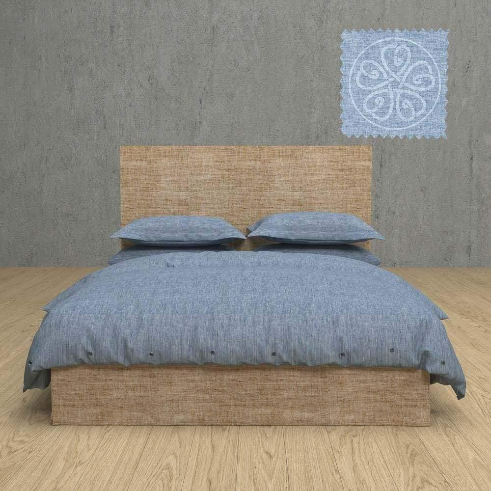 Chambray Linen Duvet 3 Piece Set With Tye Enclosures In 12 Colors | flaxlinens.com