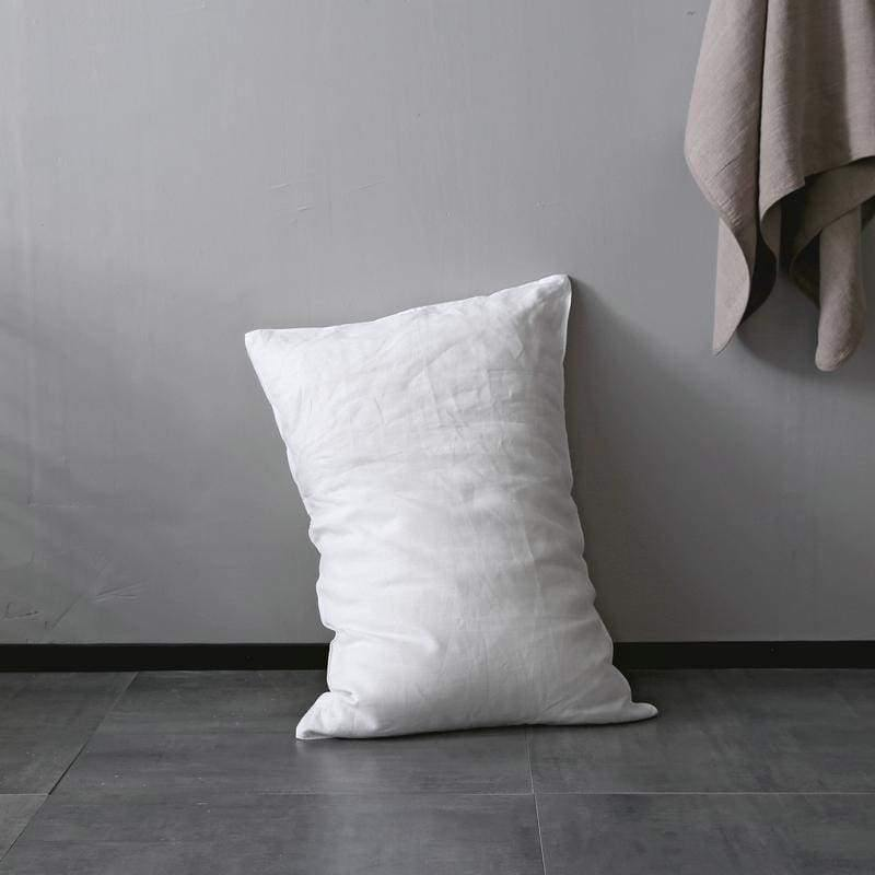 Organic Belgian Linen Simple Pillow Covers Standard / Queen / King Sizes In 15 Colors