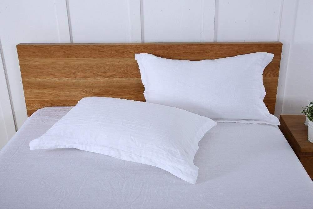 Pure Natural Linen Pillow Cover Slip Flax Pillowcase French Country Solid Colors