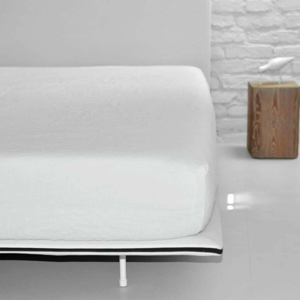 Single Organic Belgian Linen Stonewashed Fitted Sheet In 12 Colors | flaxlinens.com
