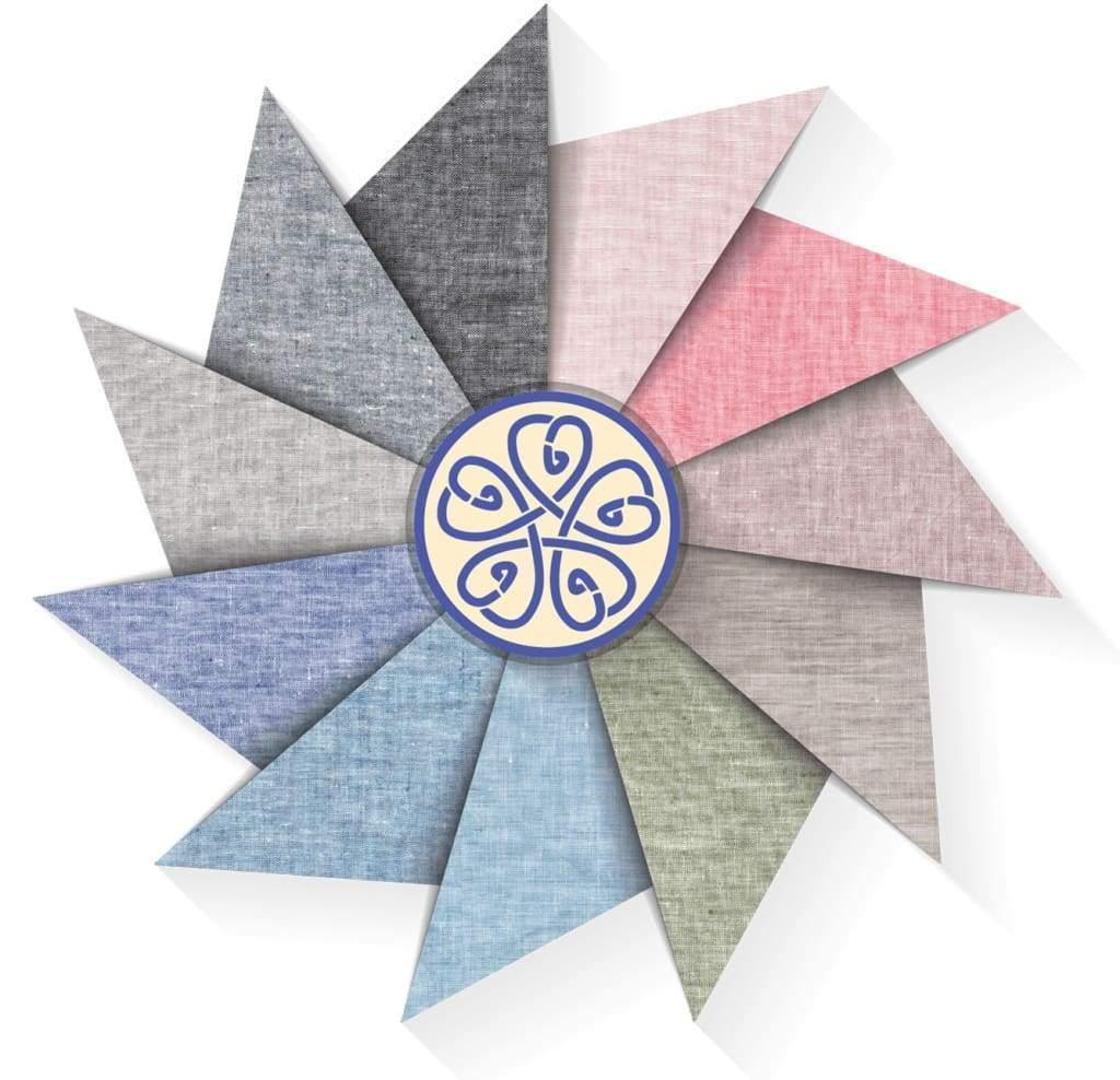Solid Chambray Linen 4 Piece Sheets Set in 11 Colors - Twin / Kortrijk Clay