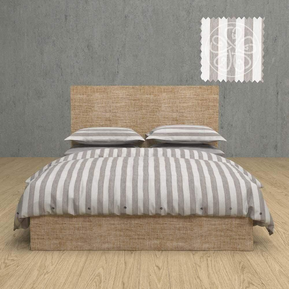 Striped Chambray Linen Duvet Cover 3 Piece Set With Tyes In 15 Patterns | flaxlinens.com