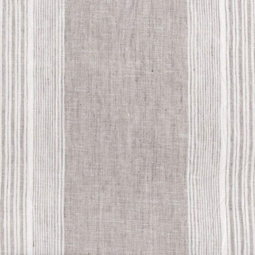 Woven Striped Chambray Linen Fabric By The Yard Stonewashed 110 Inch (280 Cm) Wide In 14 Patterns - Mixed Flax