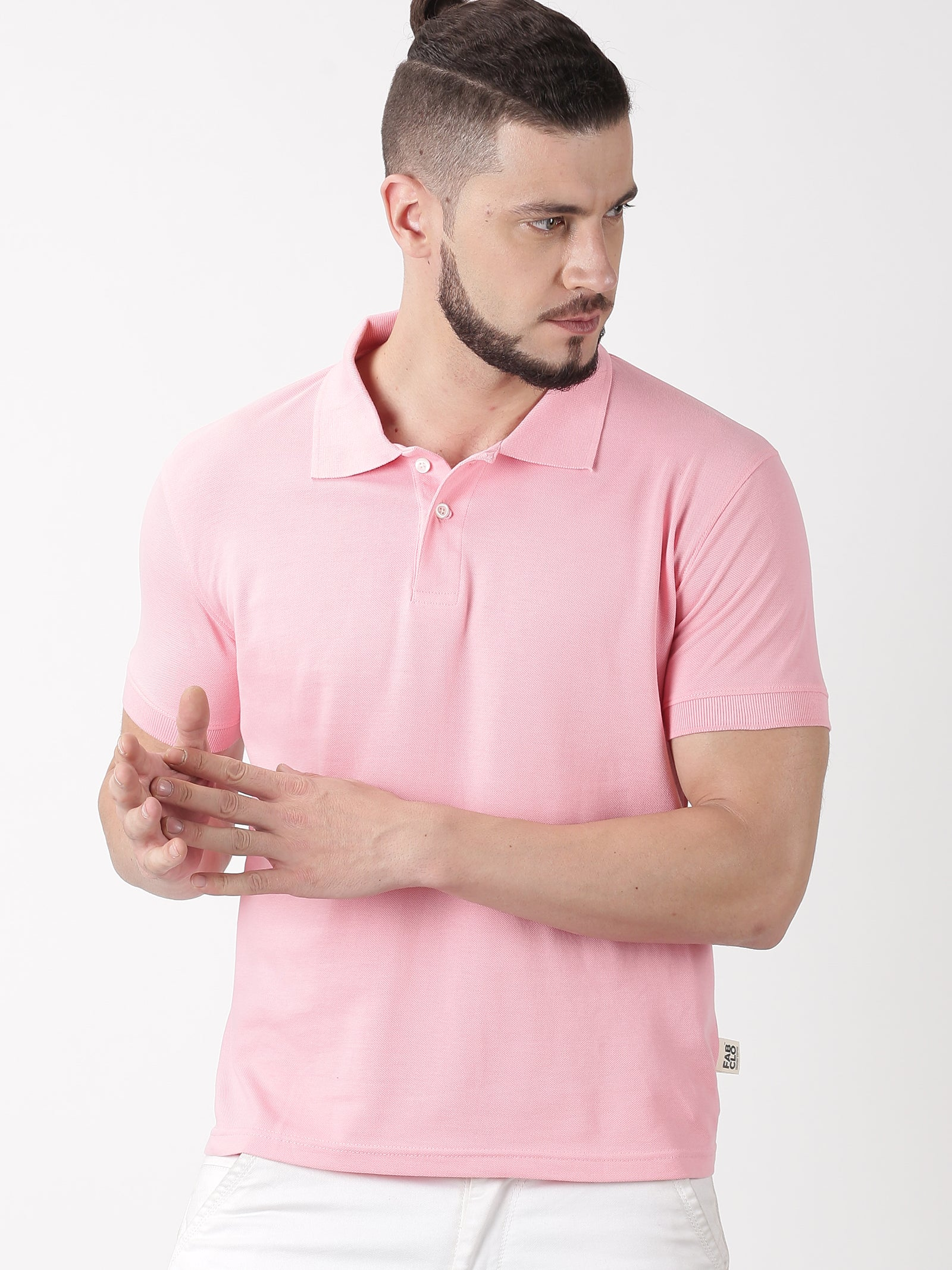 Organic cotton polo t-shirt - Pink