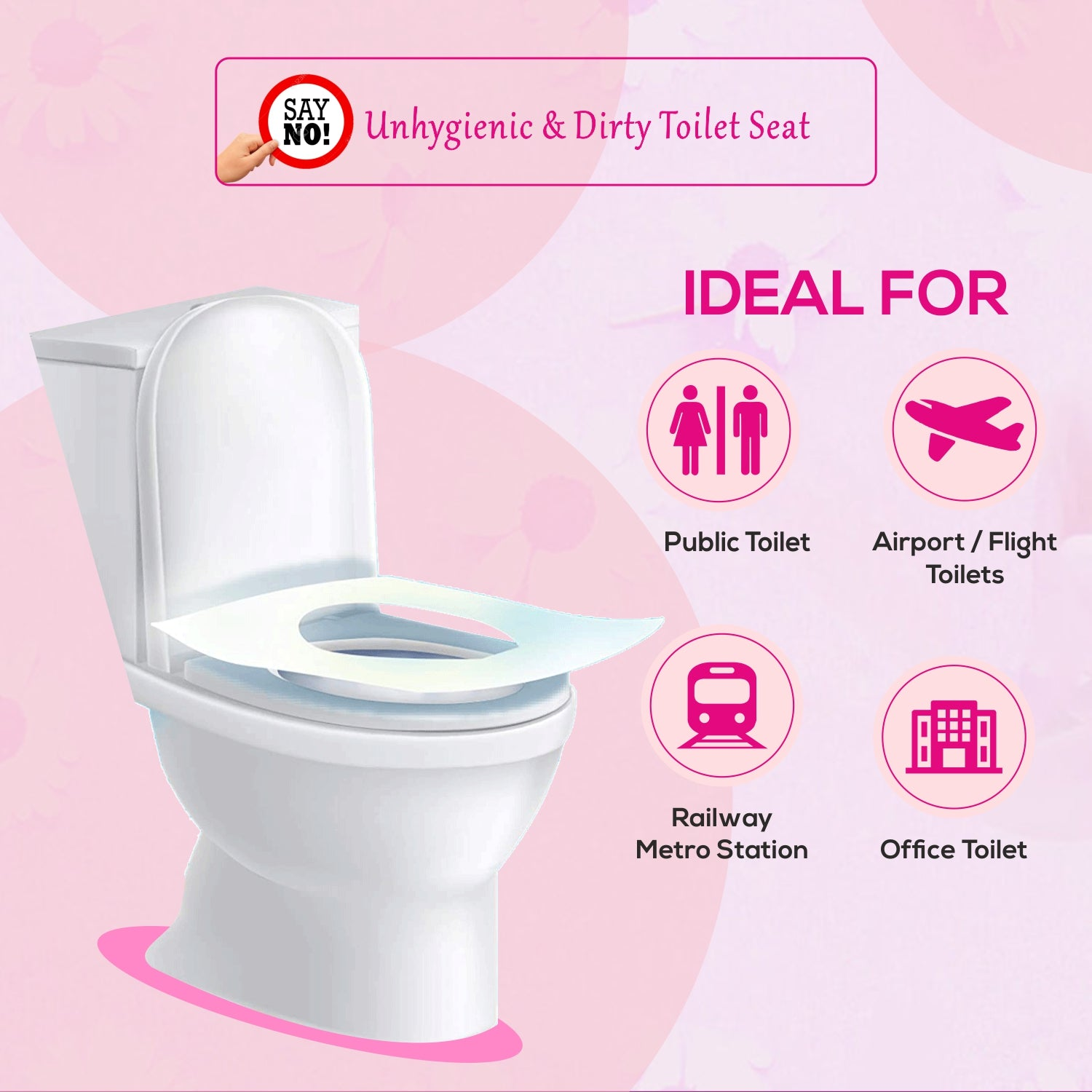 Paper toilet seat cover - For dirty toilet seats - Biodegradable