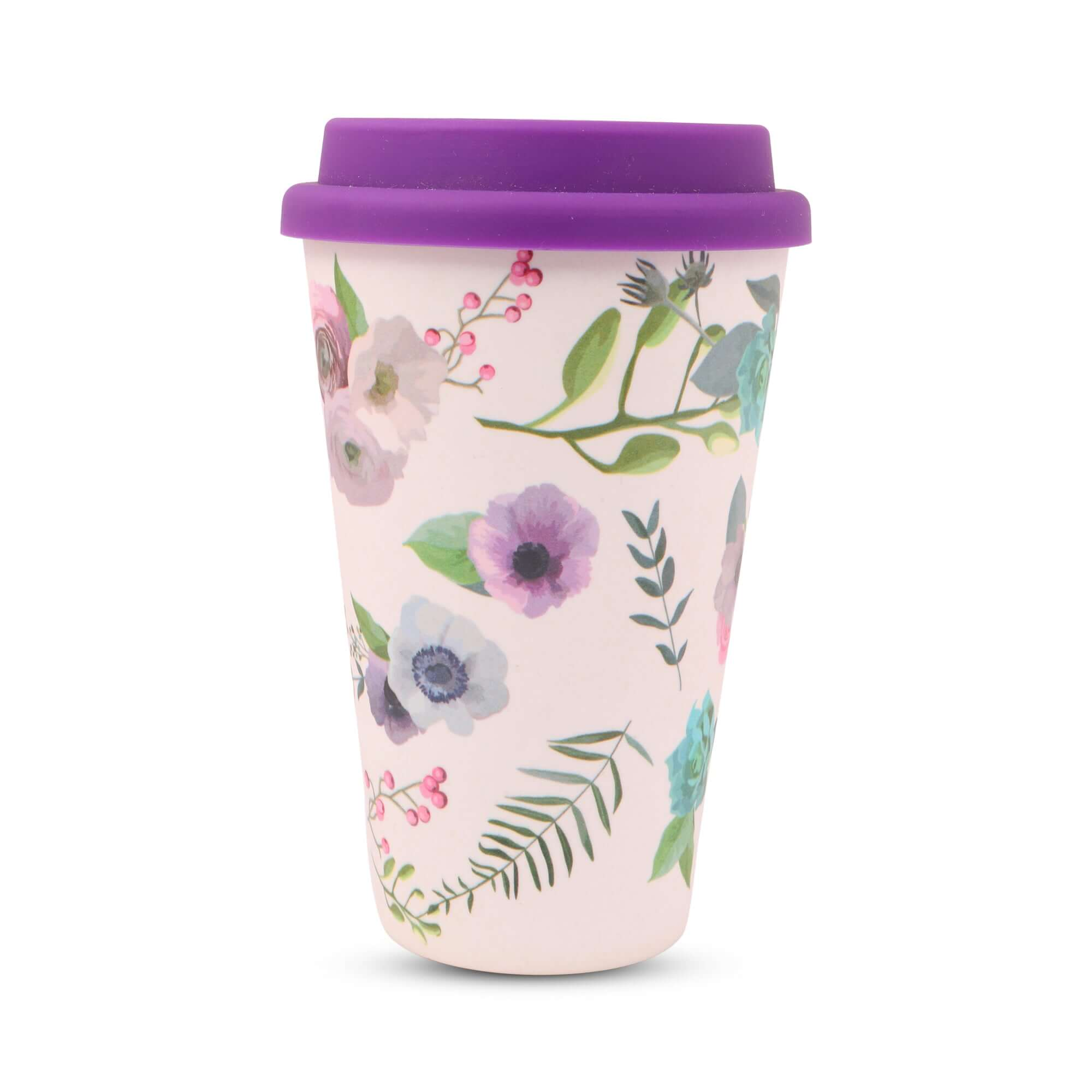 Bamboo Fibre  & Silicone-Travel Coffee Mug (400 ml)