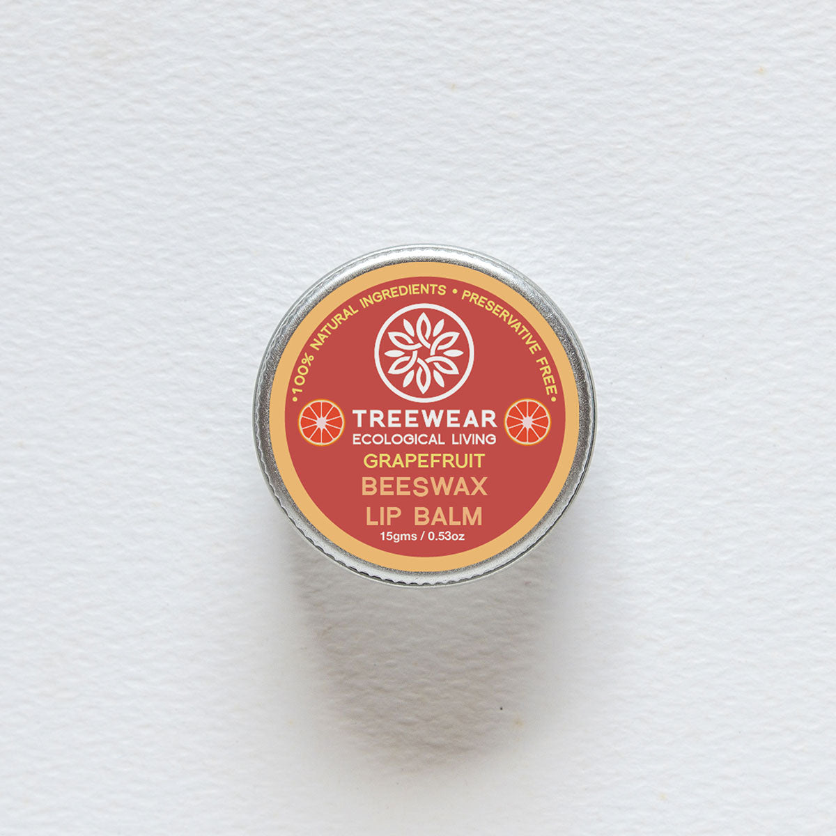 Organic Beeswax Lip Balm - Grape Fruit
