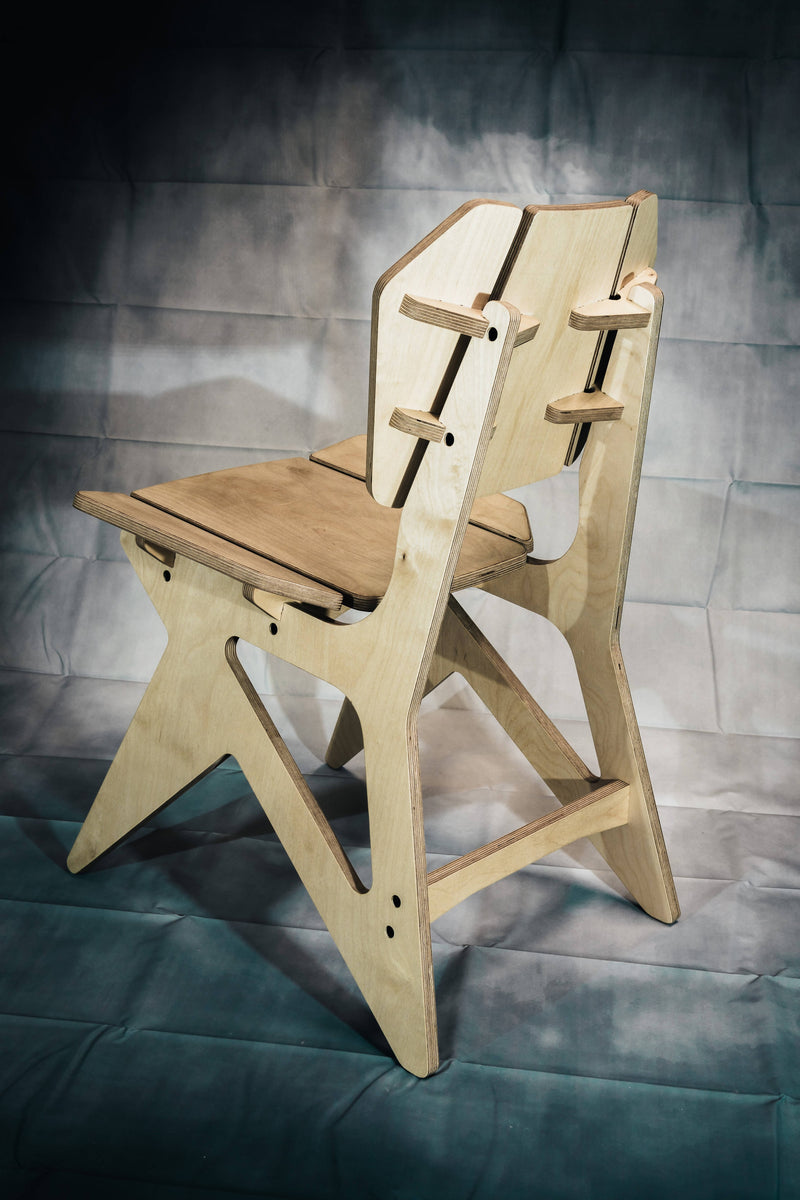 Chaise de table en bois design - THALES