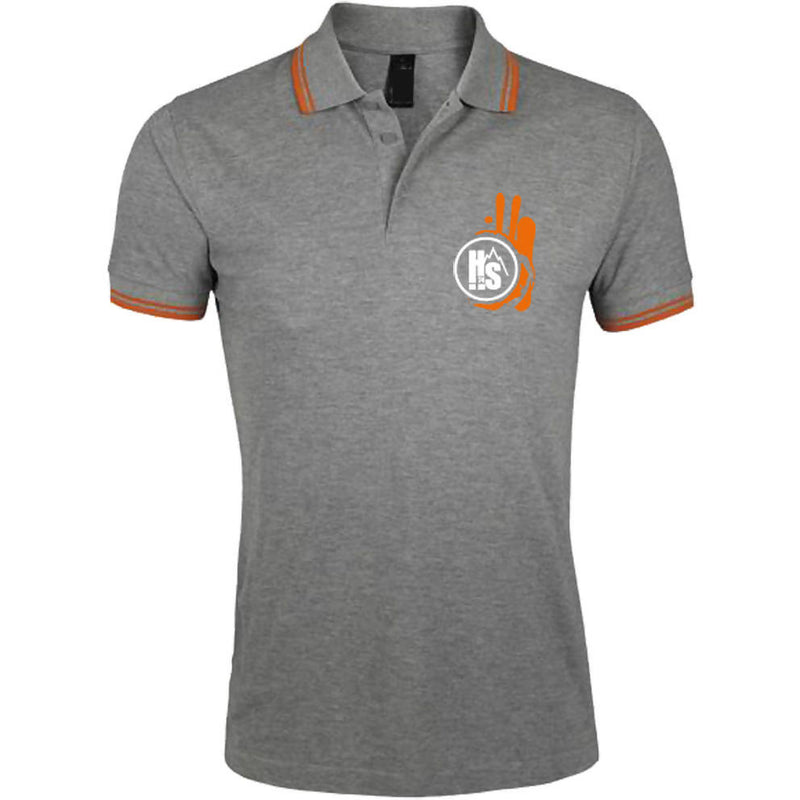 Polo Homme Gris/Orange