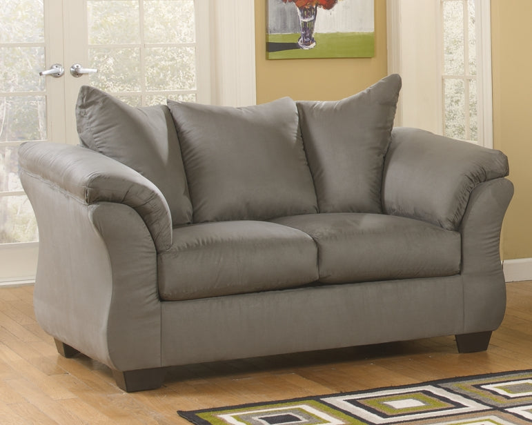 Darcy Signature Design by Ashley Cobblestone Loveseat