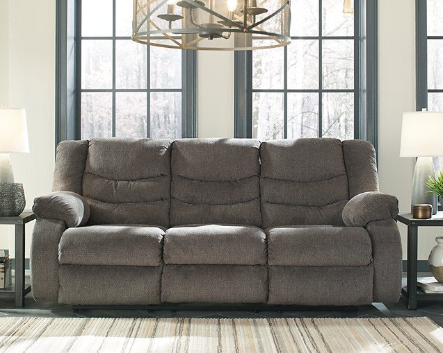 Tulen Signature Design by Ashley Gray Reclining Sofa