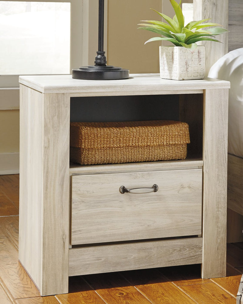 Bellaby Signature Design by Ashley Whitewash Nightstand
