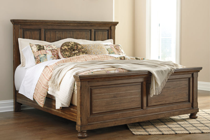 Flynnter Signature Design by Ashley Medium Brown Queen Panel Bed