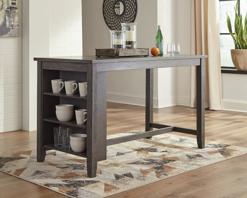 Caitbrook Signature Design by Ashley Gray Counter Height Dining Table
