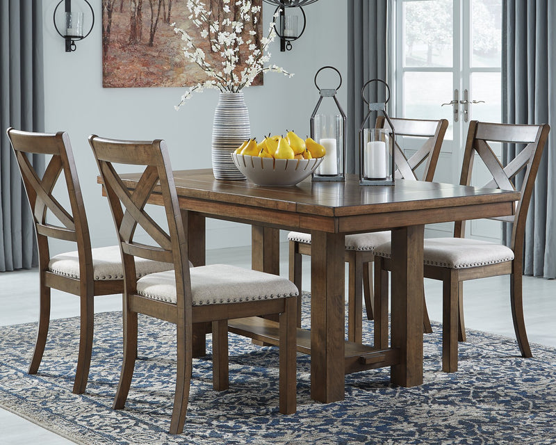 Moriville Signature Design by Ashley Grayish Brown Dining Extension Table