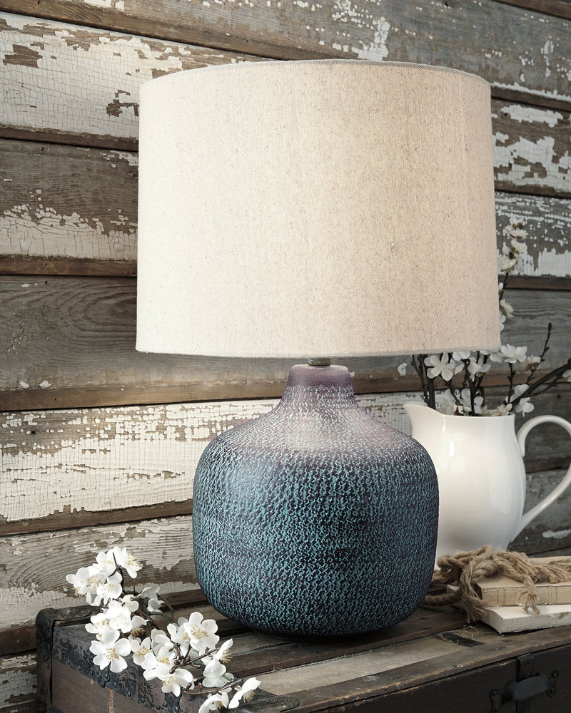 Malthace Signature Design by Ashley Patina Table Lamp