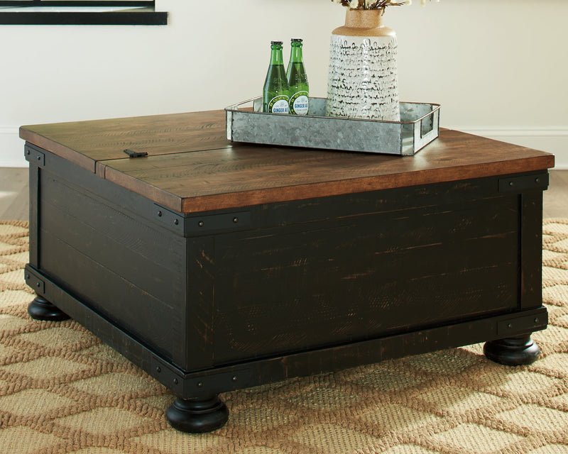 Valebeck Signature Design by Ashley BlackBrown Coffee Table with Lift Top