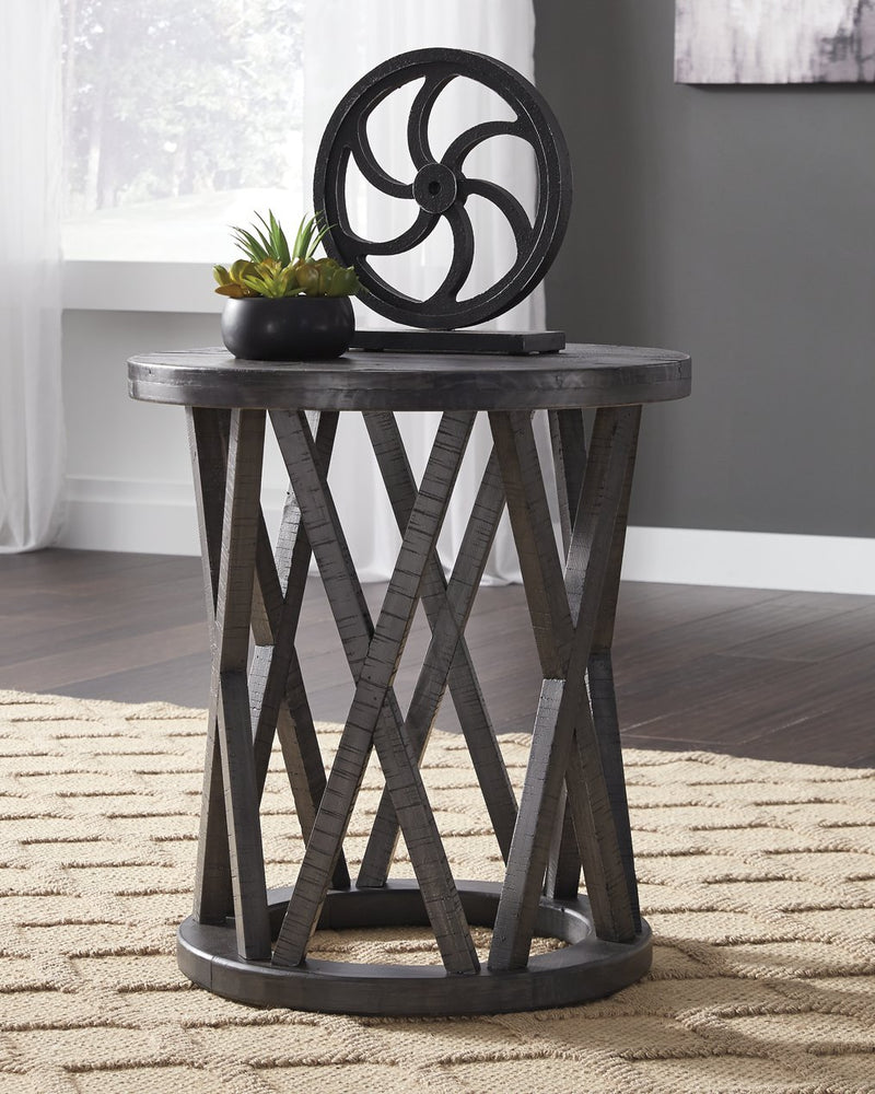 Sharzane Signature Design by Ashley Grayish Brown End Table