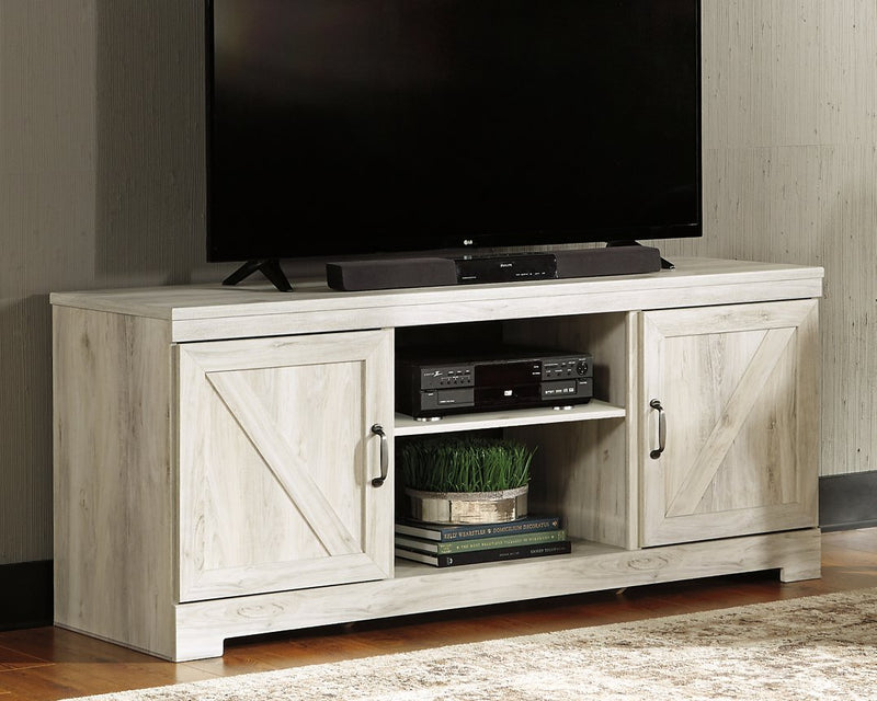 Bellaby Signature Design by Ashley Whitewash 63 TV Stand