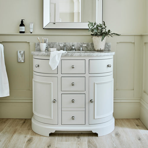 Chichester Undermount Curved Washstand Side cabinets- CHIBA-BAS-0346-1DC-R-HE