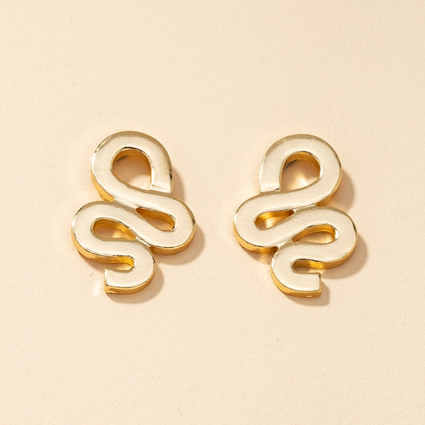 Korean Style Snake Fashion Metal Earrings