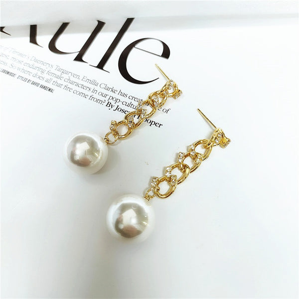 Korean Style Retro Metal Geometric Earrings