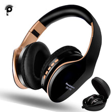 Load image into Gallery viewer, PunnkFunnk Bluetooth 5.0 Headphones  Foldablel 3D Bass Stereo Noise Reduction