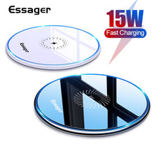 Load image into Gallery viewer, Essager 15W Qi Wireless Charger For iPhone 12 11 Pro Xs Max Mini X Xr 8 Induction Fast Wireless Charging Pad For Samsung Xiaomi