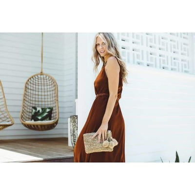 THE ISLAND CLUTCH - Natural - Beach Shade